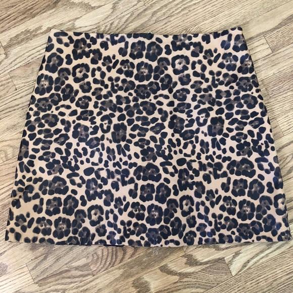 61a3fe361ff1 LPA Dresses & Skirts - LPA leather leopard print skirt